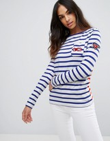 Tommy Hilfiger Denim Tommy Caspian Long Sleeved Stripey T-Shirt