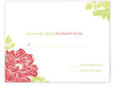 Minted Red Peony RSVP Cards