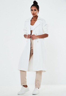 Missguided Double Breasted Oversized Trench Coat