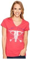Cinch Cotton Jersey V-Neck Tee Women's T Shirt