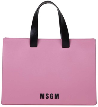 MSGM Hand Bag In Pink Leather