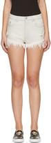Versus Grey Denim Fringed Shorts