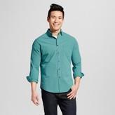 Merona Men's Everyday Check Long Sleeve Button Down Shirt Green