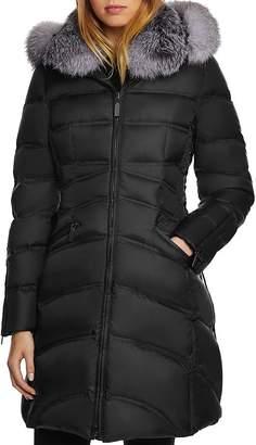 Dawn Levy Cloe Saga Fur Trim Mid-Length Down Coat