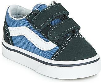 Vans OLD SKOOL V girls's Shoes (Trainers) in Blue
