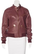 Band Of Outsiders Leather Zip-Up Jacket
