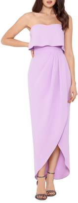 Xscape Evenings Strapless Wrap Dress