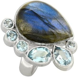 Nitya Sterling Silver Labradorite Blue Topaz Ring