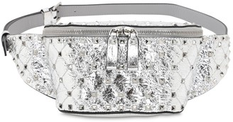 Valentino Small Spike Laminated Leather Belt Bag