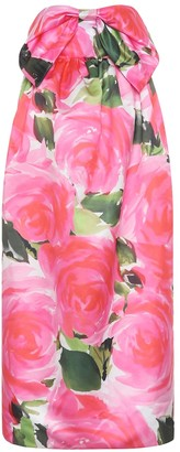 Richard Quinn Floral satin dress