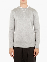 Helmut Lang Grey Tape-Detail Sweatshirt