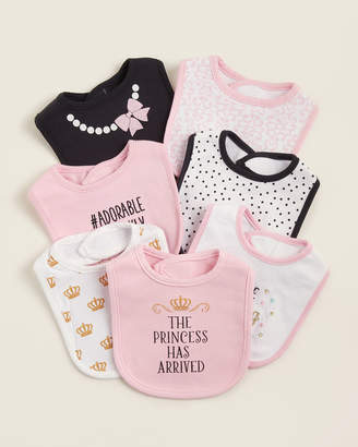 Hudson Baby Newborn Girls) 7-Pack Princess Bib