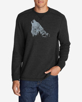 Eddie Bauer Men's Graphic Thermal Crew - Howling Wolf