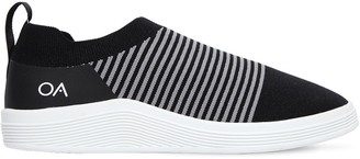 Adno Striped Knit Slip-on Sneakers