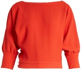 Rachel Comey Tempe deep V-back long-sleeved top