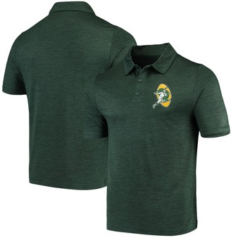Majestic Men's Green Green Bay Packers Iconic Retro Positive Production Polo