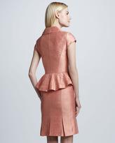 Kay Unger New York Shawl-Collar Peplum Suit