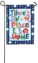 """Evergreen Christmas """"Snow Place Like Home"""" Indoor / Outdoor Garden Flag"""