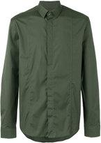 Les Hommes concealed fastening shirt - men - Cotton/Spandex/Elastane - 48