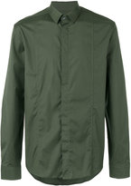 Les Hommes concealed fastening shirt - men - Cotton/Spandex/Elastane - 50