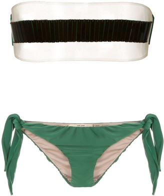 Adriana Degreas x Cult Gaia strapless bikini set