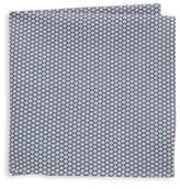 Hickey Freeman Geometric Cotton Handkerchief