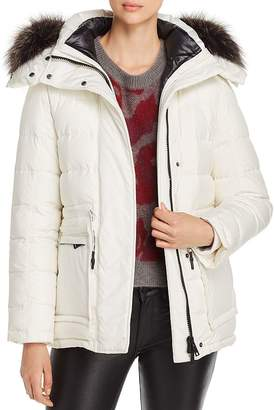 Yves Salomon Fur-Trim 2-in-1 Down Coat