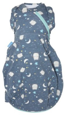 Tommee Tippee Newborn Grosnug Swaddle Sleeping Bag, Ollie the Owl - Light, 0-3m, Small