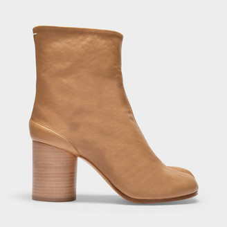 Maison Margiela Ankle Boots Tabi H80 In Beige Soft Vintage Leather