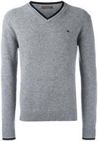 Etro contrast trim v-neck sweater