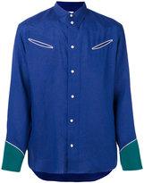Umit Benan western shirt - men - Linen/Flax - 48