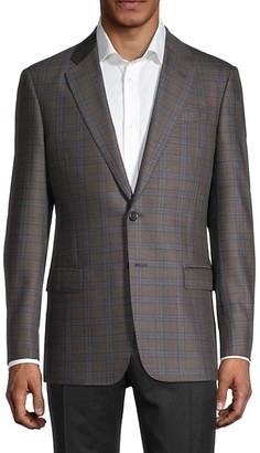 Armani Collezioni Windowpane Check Virgin Wool Sportcoat