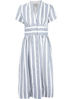 Sea striped V-neck dress