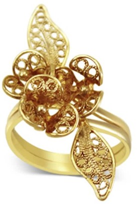 Sterling Silver Filigree Rose Ring