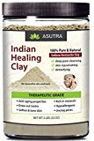 (Value Size 2lbs) 100% Pure Sodium Bentonite Indian Healing Clay, THERAPEUTIC GRADE, Natural & Organic, Revitalize Skin & Hair, Combat Acne, Clay Face Mask, Deep Pore Cleansing