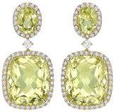 Kiki McDonough Signature Lemon Quartz & Diamond Drop Earrings