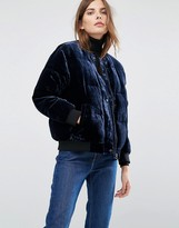 Warehouse Velvet Padded Jacket
