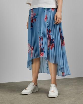 Ted Baker Raspberry Ripple Pleated Midi Skirt