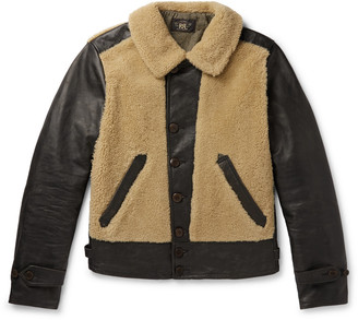 Ralph Lauren RRL Shearling-Panelled Leather Jacket