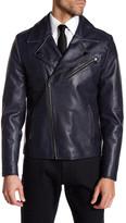 Kenneth Cole New York Leather Moto Jacket