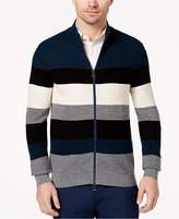 Michael Kors Men's Colorblocked Stripe Full-Zip Sweater