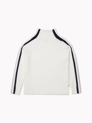 Tommy Hilfiger Side Stripe Mockneck Sweater