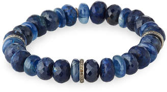 Sheryl Lowe 10mm Blue-Mix Bracelet w/ Diamond Discs