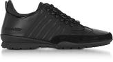 DSquared2 Black Gommato Leather Men's 251 Sneakers