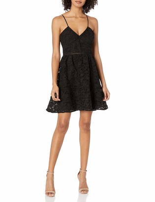 BB Dakota Women's Sutton Fit N Flare Lace Dress