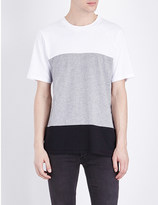 Rag & Bone Colour-block cotton-jersey t-shirt