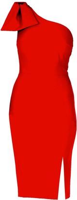 Mellaris Tessa Dress Red Crepe