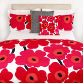 Marimekko Unikko Duvet Cover - Red/White - Single