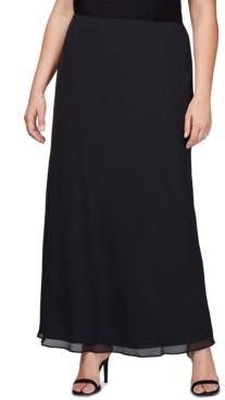 Alex Evenings Plus Size Evening Maxi Skirt