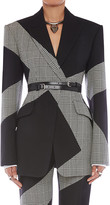 Alexander McQueen Prince of Wale Check Wool-Blend Jacket